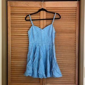 Aritzia Talula Chambray Dress